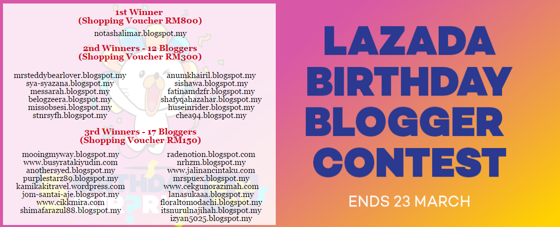 Lazada birthday blogger contest 2017