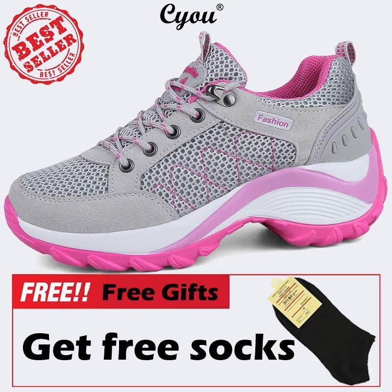 Cyou Big Size 35-42 Women Height Increase Hiking Shoes Outdoor Climbing  Sneakers Kasut Hiking Wanita Bernafas Kasut Sukan Luaran 2b0e7b8f78
