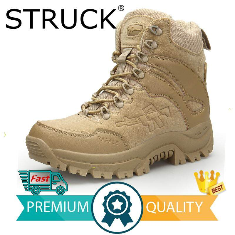 3bc3644da68d STRUCK Hiking Climbing Shoes Professional Waterproof Hiking Boots Tactical  Boots Outdoor Mountain Climbing Sports Sneakers39-
