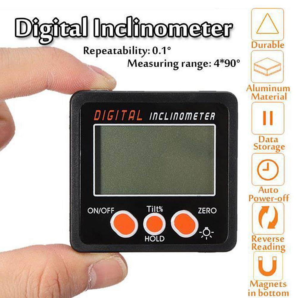 LISSNG Magnetic Base Digital Protractor Angle Gauge Finder Inclinometer Bevel Box Meter