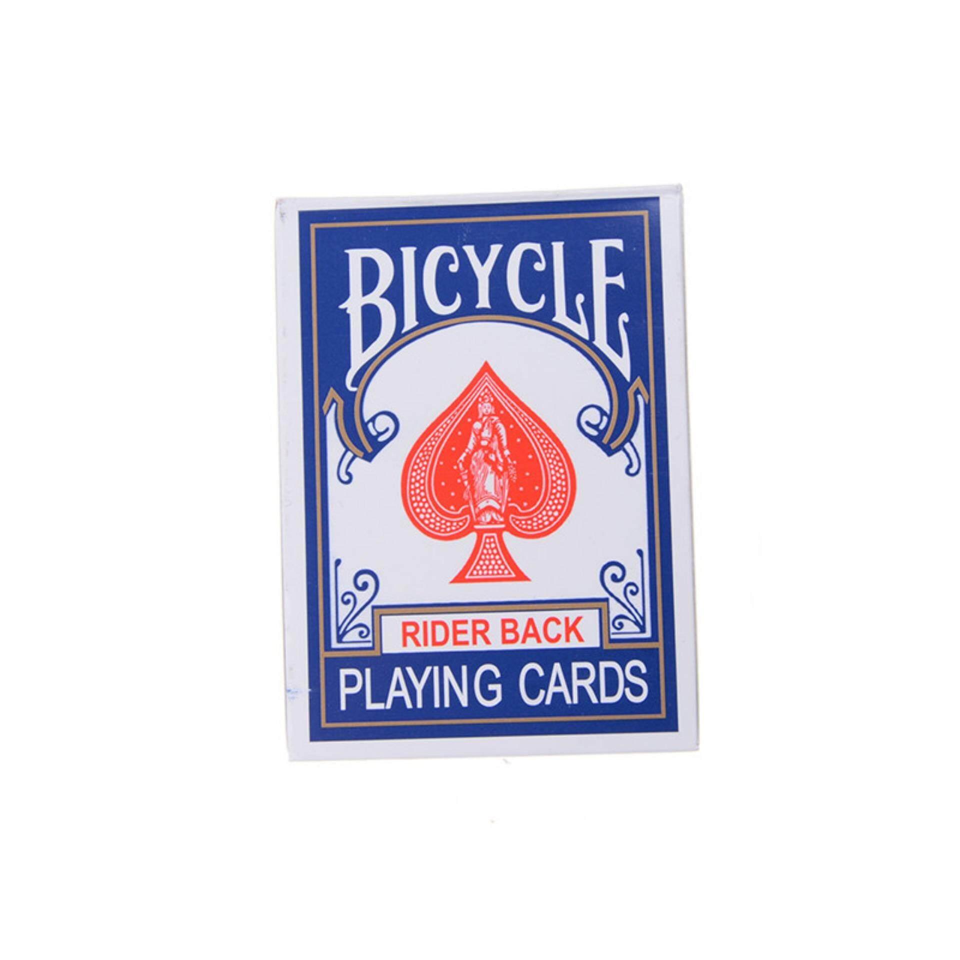 Jettingbuy Kartu Permainan Sepeda Poker Rider Kembali Standar Deck Mainan Ajaib Biru