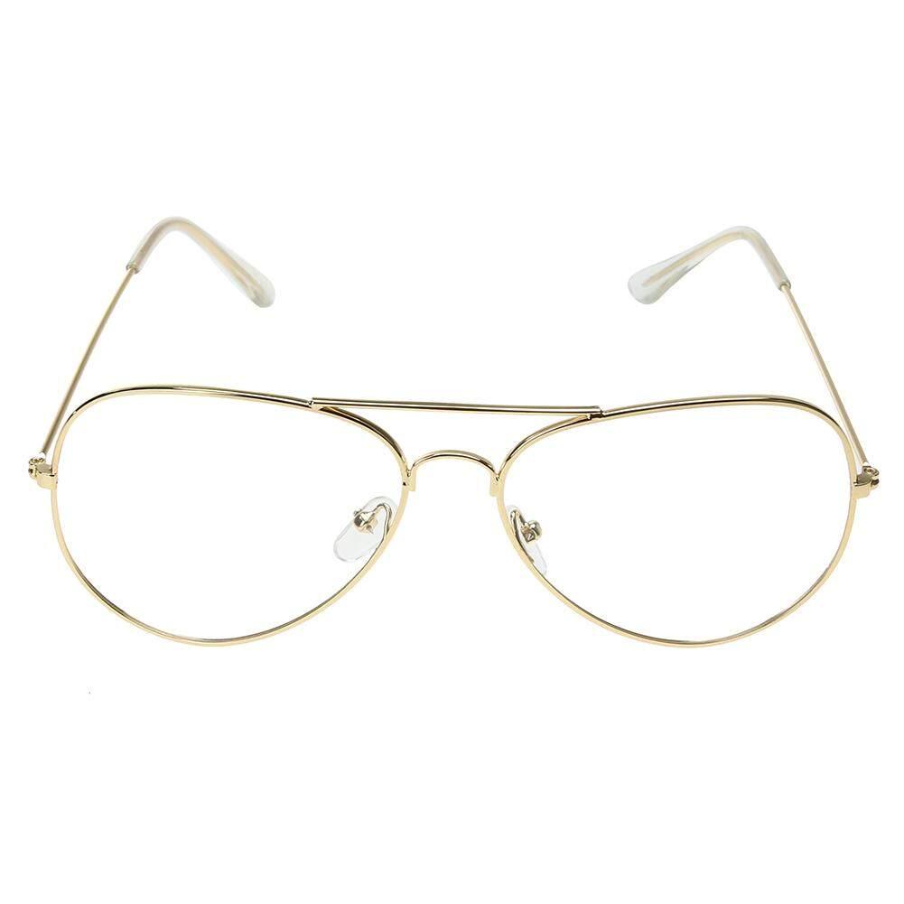 BZ327 Unik Kacamata Lensa Bening Logam Kaca Polos Bingkai Kacamata UV400