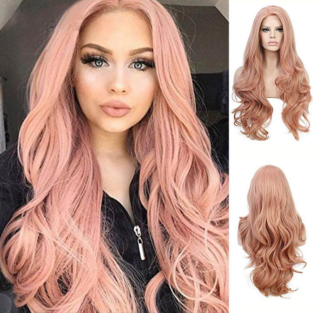 OrzBuy Lace Front Wigs Long Wavy Synthetic Wig Human Hair With Invisible Glueless With Clear Hairline