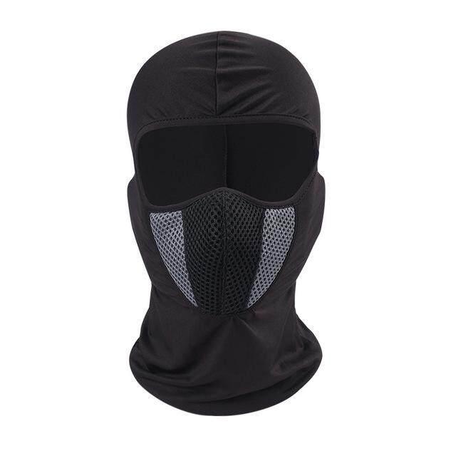 Bernapas Elastis Anti Sinar UV Cepat Kering Sepeda Motor Balaclava Windproof Penuh Masker Wajah untuk Bersepeda