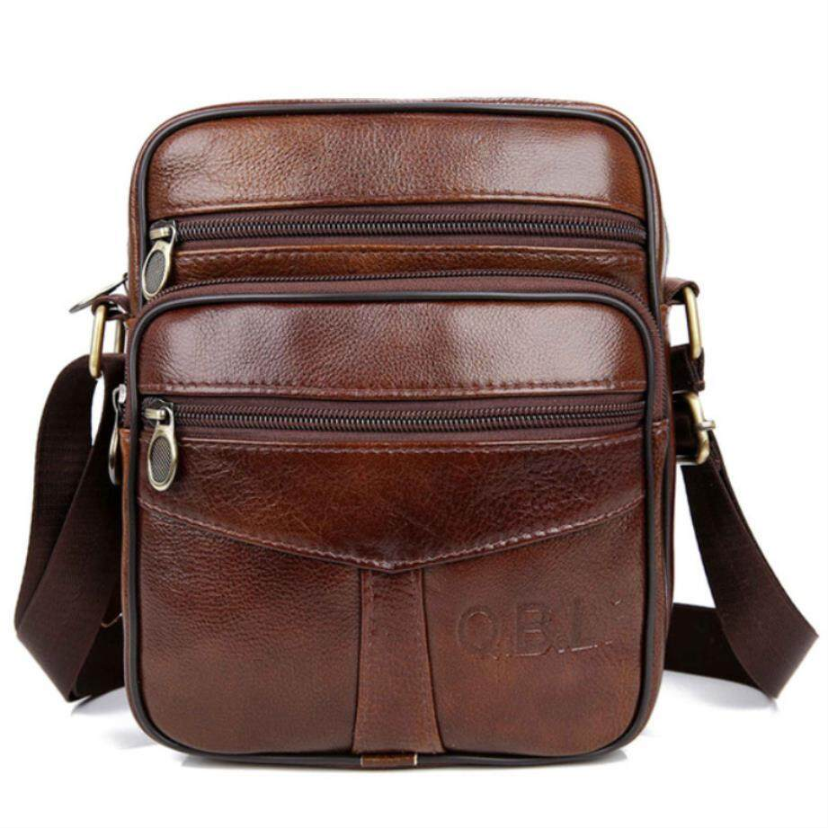 625342cd3567 Qibolu Cow Genuine Leather Messenger Bags Men Travel Business Crossbody  Shoulder Bag For Man Sacoche Homme