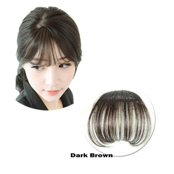 YBC Women Clip Bangs Hair Extension Fringe Hairpieces False Synthetic Hair Clips - intl