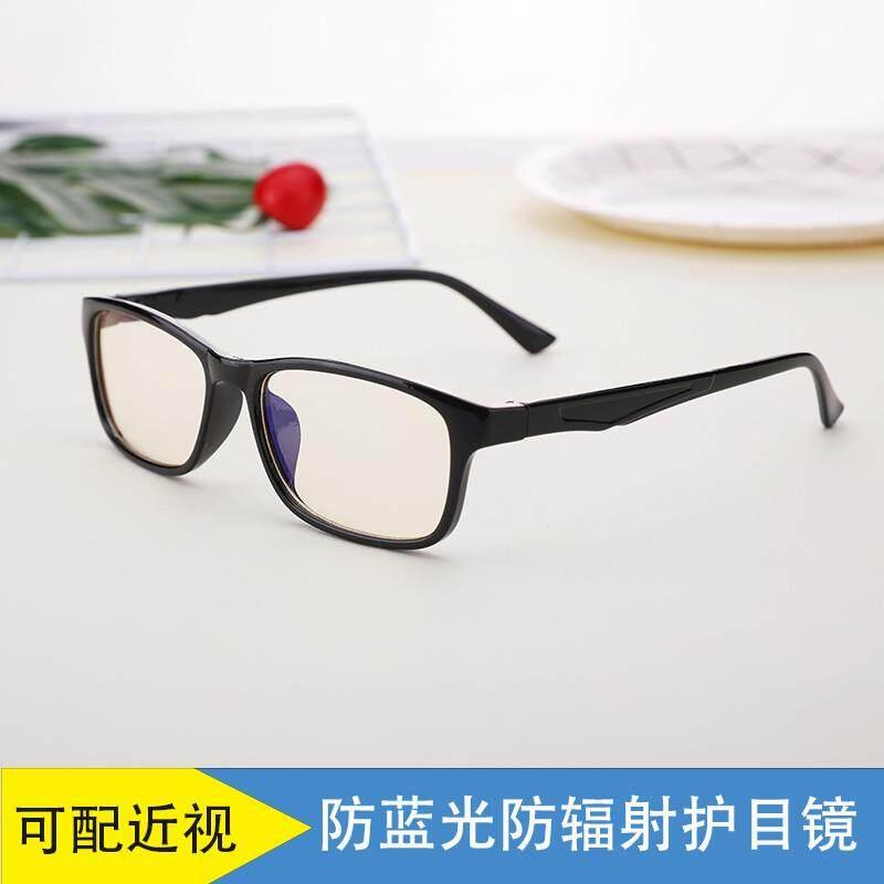 Retro bingkai kacamata wanita Gaya Korea pasang wajah bulat kaca polos  kepribadian Bingkai Kacamata kacamata minus 629382f600