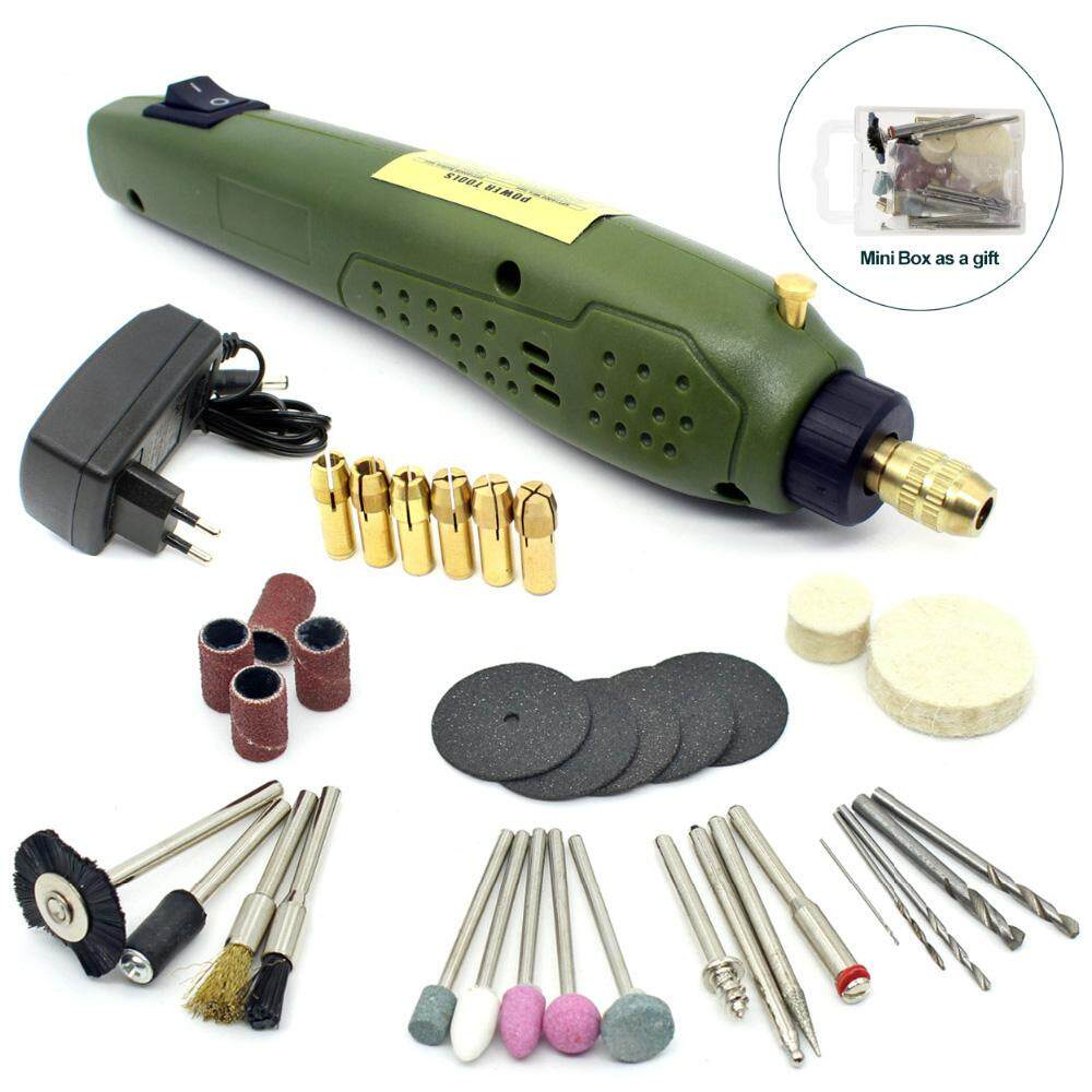 Portable Mini Electric 16000rpm Grinder Engraving Drilling Polishing Drill(EU PLUG)