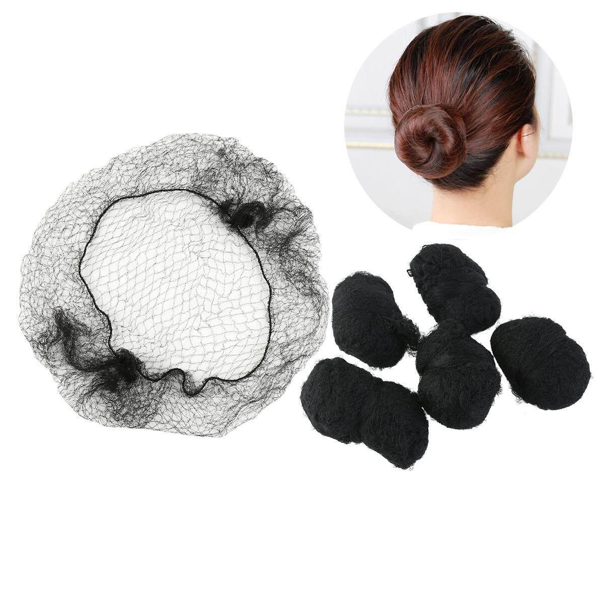 100pcs Hair Nets Invisible Elastic Edge Mesh (Black)