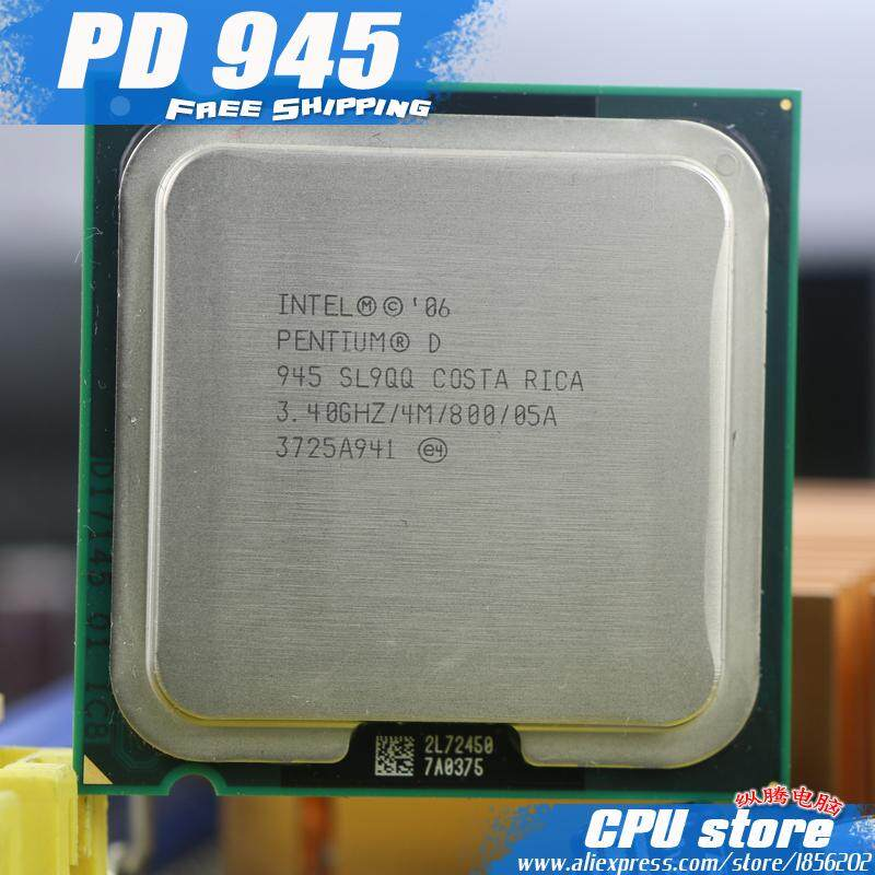 Intel Pentium D 945 Prosesor CPU (3.4 GHz/4 M/800 GHz) socket 775 PD 945 Pd945 (Bekerja 100%) PD 950 PD 960