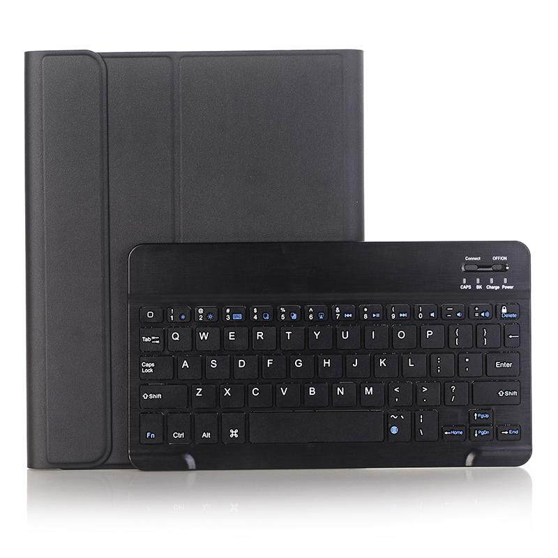 Detachable Bluetooth Keyboard for New iPad 9.7 2017 2018 iPad Air Air 2 Universal Folio Cover Leather Case with Pencil Holder+Stylus A07B