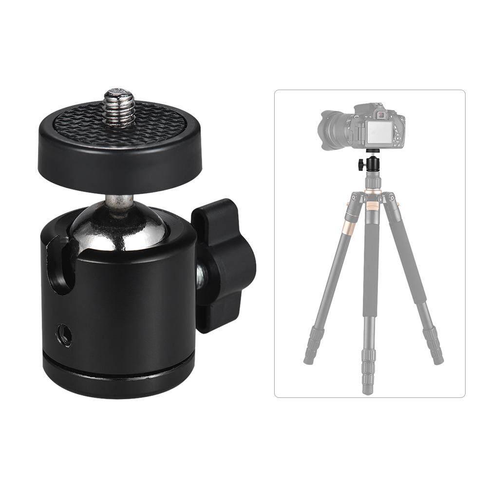 """2 Pcs 360 Adaptor Putaran 360 Derajat Mini Bola Tripod Kepala dengan 1/4 """""""