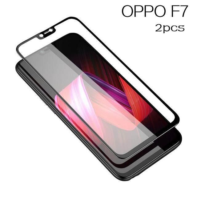 2 Pcs OPPO F7 Kaca Melunakkan 3D Melengkung 9 H Kaca untuk OPPO F7 Penuh Layar