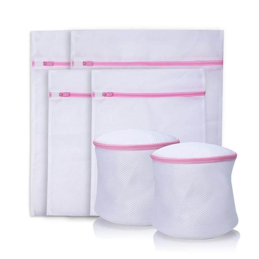 6PCS Mesh Net Wash Bag Laundry Washing Lingerie Underwear Bra Clothes Sock Bag