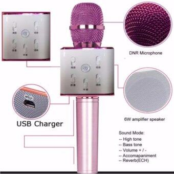 Q7 Portable Wireless Bluetooth Speaker Microphone Mic with KaraokeKTV Singing Stereo for Smartphones - Rose Gold