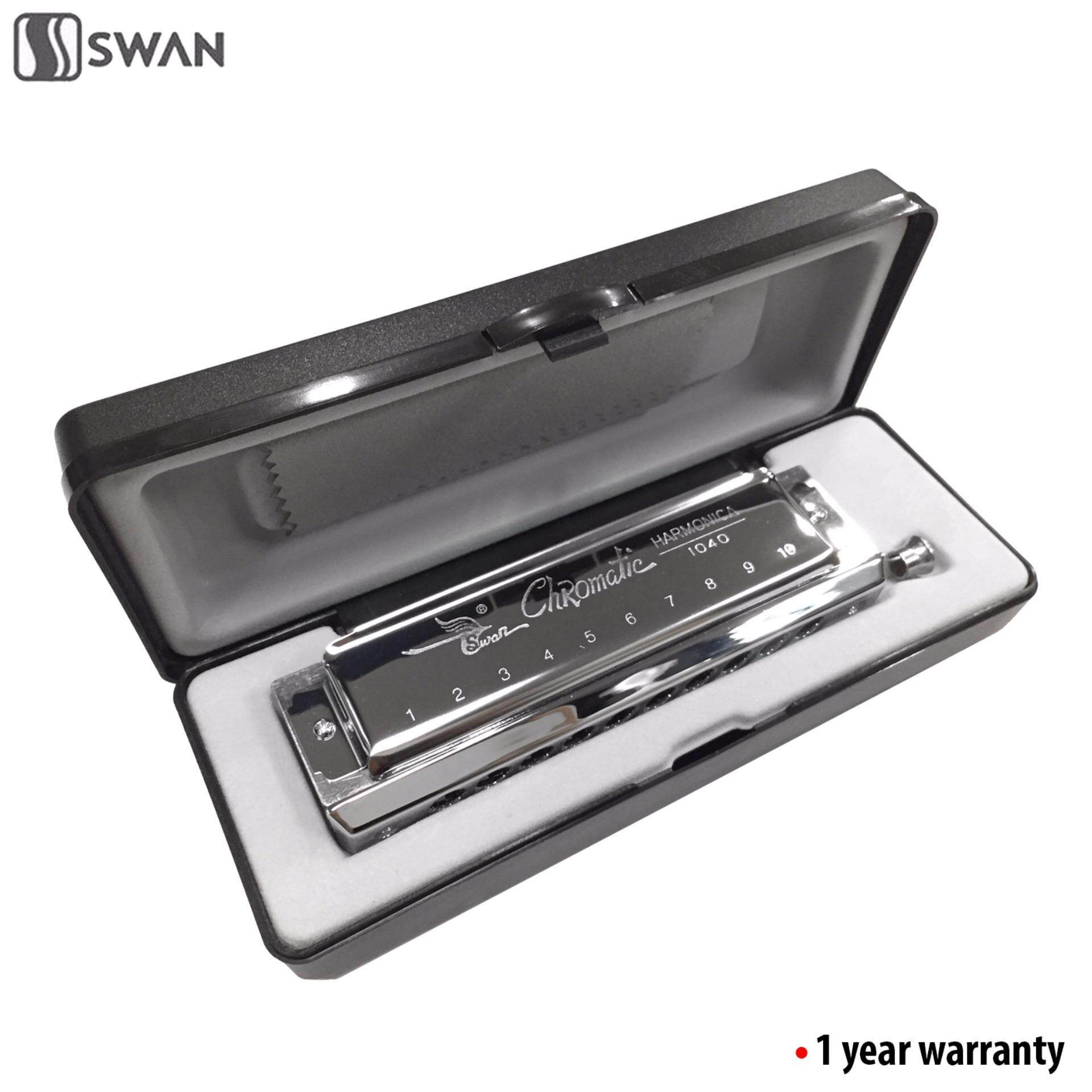 Swan SW1040 10 Hole 40 Tone Chromatic Harmonica Mouth Organ With Black Box (Professional) image