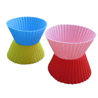 24Pcs Soft Silicone Cake Muffin Chocolate Cupcake Liner Baking CupMold