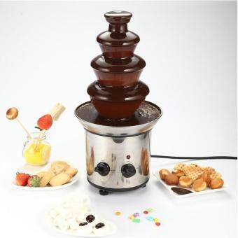 4 Layer Chocolate Fountain Fondue Wedding Children Birthday EventFestive Christmas Party Machine Chocolate Waterfall