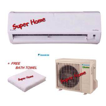 Daikin 2.0hp FTN20P & RN20C Eco King Wall Mounted Air Conditioner (R410A) - P serial - Non Inverter + Free Bath Towel