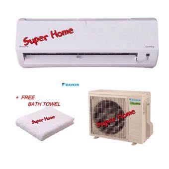 Daikin FTN10P & RN10F 1.0hp Eco King Wall Mounted AirConditioner (R410A) - P serial - Non Inverter + FOC Bath Towel