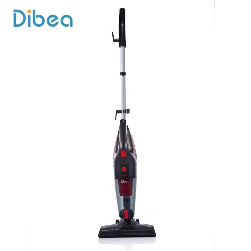 Dibea SC4588 Cord Stick Cleaner Handheld With Crevice Tool (Red And Black) - intl Singapore