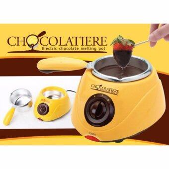 Electric Chocolate Fountain Fondue Chocolate Melt Pot Melter Machine Yellow