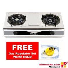 Free Gas Regulator Elba Stainless Steel 2 Burner Cooker Egs F7112