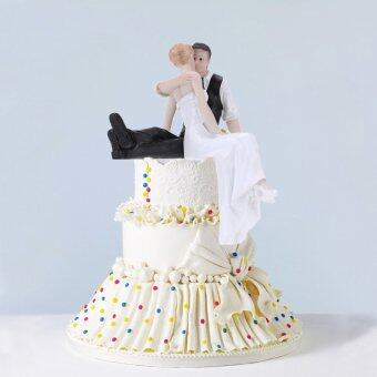 High Quality Synthetic Resin Bride & Groom Wedding Cake TopperRomantic Wedding Party Decoration Adorable Figurine Craft Gift