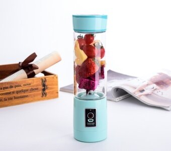 Juicer Cup Portable Shake N take Mixer Water Bottle Drink Cup Automatic USB Fruit Juicer Blender Juice Smoothie Maker(Light Blue)