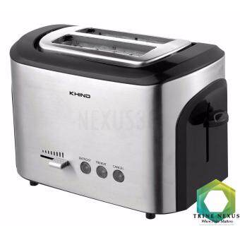 Khind 2 Slices BT12SS Bread Toaster Stainless Steel Defrost and Reheat