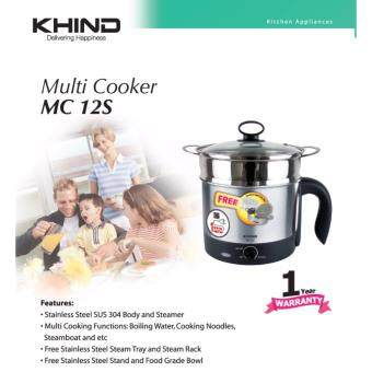 KHIND Multi Cooker MC12S Stainless Steel