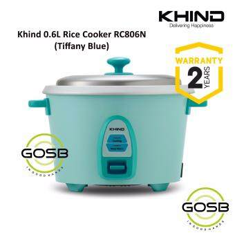 Khind RC806N 0.6L (4 Cups) Rice Cooker Optimal Keep Warm Stainless Steel Removable Cover Lid (Tiffany Blue)