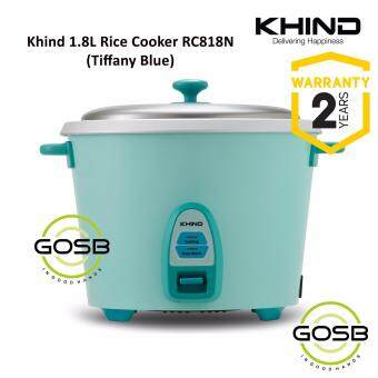 Khind RC818N 1.8L (9 Cups) Rice Cooker Optimal Keep Warm Stainless Steel Removable Cover Lid (Tiffany Blue)