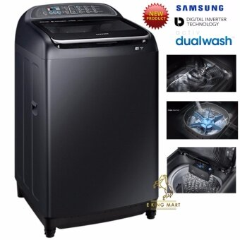 [Latest 2017] Samsung Black Stainless Steel Colour BodyBIG Tub 16.0kg Washing Machine with Built-in Sink WA16J6750SV/FQ