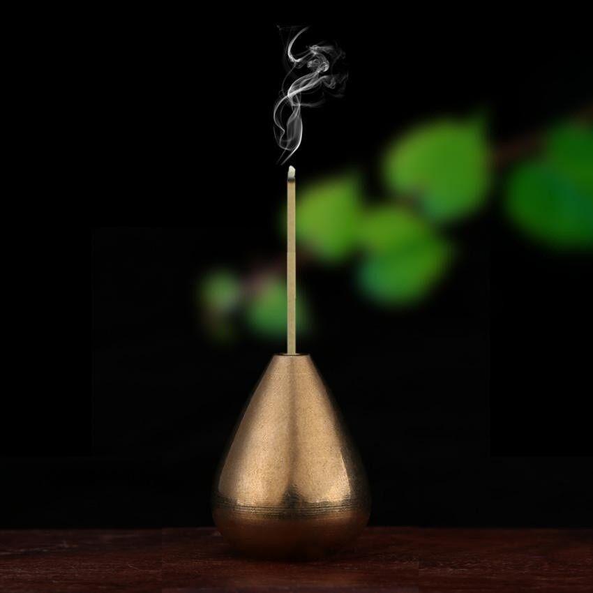 Mini Air Drop Bentuk Brass Incense Stick Holder Censer Aksesoris untuk Kamar Tidur Tea Room Par-Intl