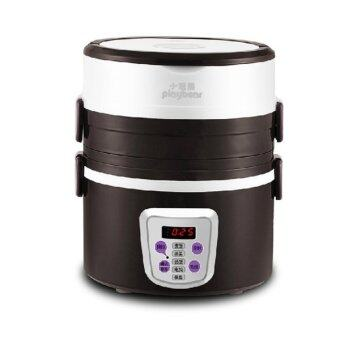 Playbear 3 Layer Automatic Electric Steamer / Rice cooker / Lunchbox - Brown