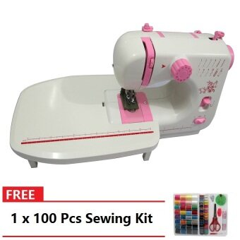 Sewing Machine JYSM-605 with 12 Sewing Options (Pink) WithExpansion Board FREE FREE 100 PCS Sewing Kit