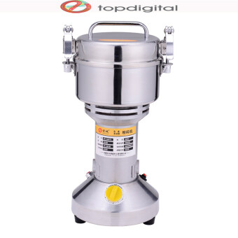 Stainless Steel Large Flour 500g Mill Machine Ultrafine GrindingMachine Chinese Medicine Grinder Household Electric Gristmill 220V