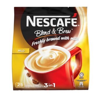 NESCAFE Blend & Brew Mild, Premix Coffee, 20g x 25 sticks (EM)
