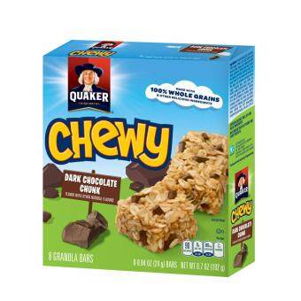 QUAKER CHEWY CHOCOLATE CHIP BAR 192G