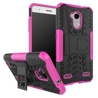 2-in-1 Tyre Pattern Kickstand Detachable PC + TPU Protector MobilePhone Case for ZTE Blade V6 Plus - Rose