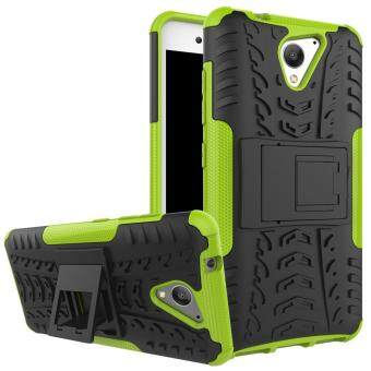 2-in-1 Tyre Pattern Kickstand PC + TPU Hybrid Cellphone Cover forZTE Blade A510 - Green