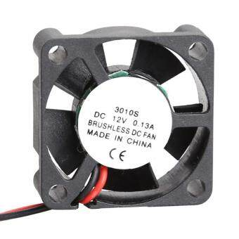 3010S 12V Cooler Brushless DC Fan 30 x 10 mm Mini Cooling Radiator(Black)