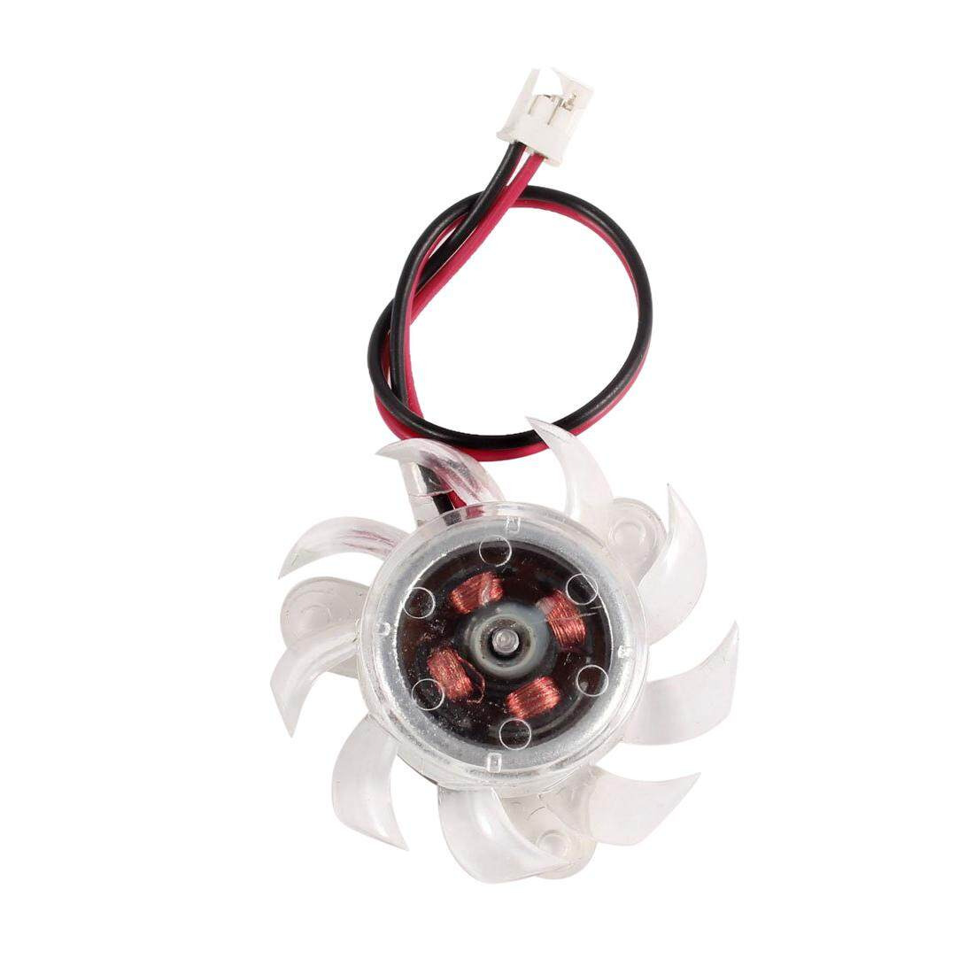 35mm Clear Plastic VGA Graphic Card Cooling Fan Cooler for PC Computer - intl