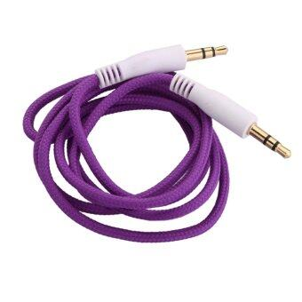 3.5mm Jack AUX Auxiliary Cord Male to Male Stereo Audio CablePurple