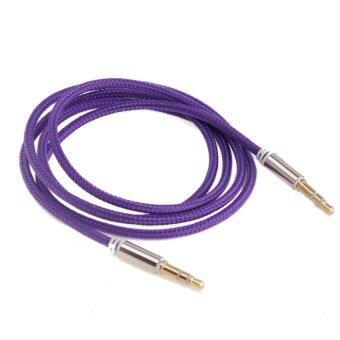 3.5mm Nylon Male to Male Car Aux Auxiliary Cord Stereo Audio Cable(Purple)