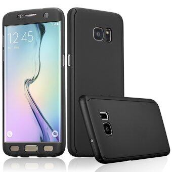 360 Full Body Coverage Protection Hard Slim Ultra-thin Hybrid CaseCover for Samsung Galaxy S6 Edge (Black)