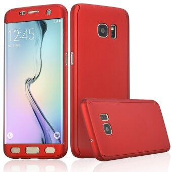 360 Full Body Coverage Protection Hard Slim Ultra-thin Hybrid CaseCover for Samsung Galaxy S6 Edge (Red)
