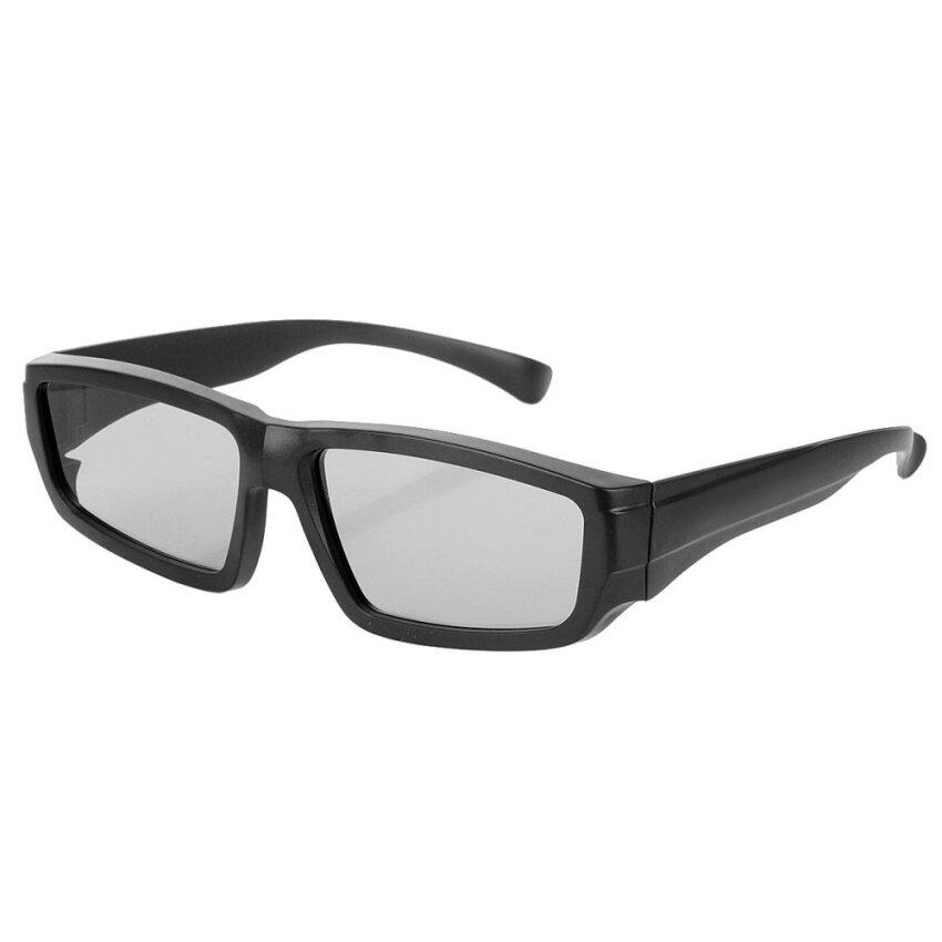 3D Virtual Reality Polarized Video TV Glasses for Konka, Skyworth,Hisense, TCL - Black - intl