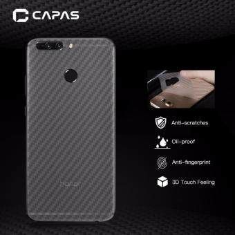 3x CAPAS 3D Carbon Fiber Clear Back Protector Film For Huawei Honor8 Pro/Honor V9 Back Film